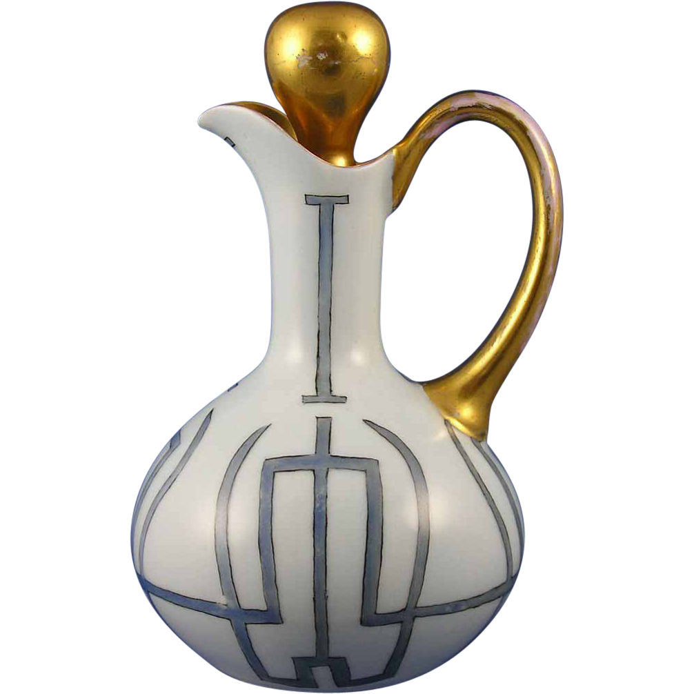 Favorite Bavaria Arts & Crafts Cruet/Pitcher (c. 1910-1930)