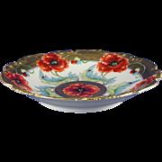 "Jean Pouyat (JP) Limoges Pickard Studios ""Poppy Conventional"" Design Bowl (Signed ""Loh"" for John Loh/c.1903-1905) - Red Tag Sale Item"