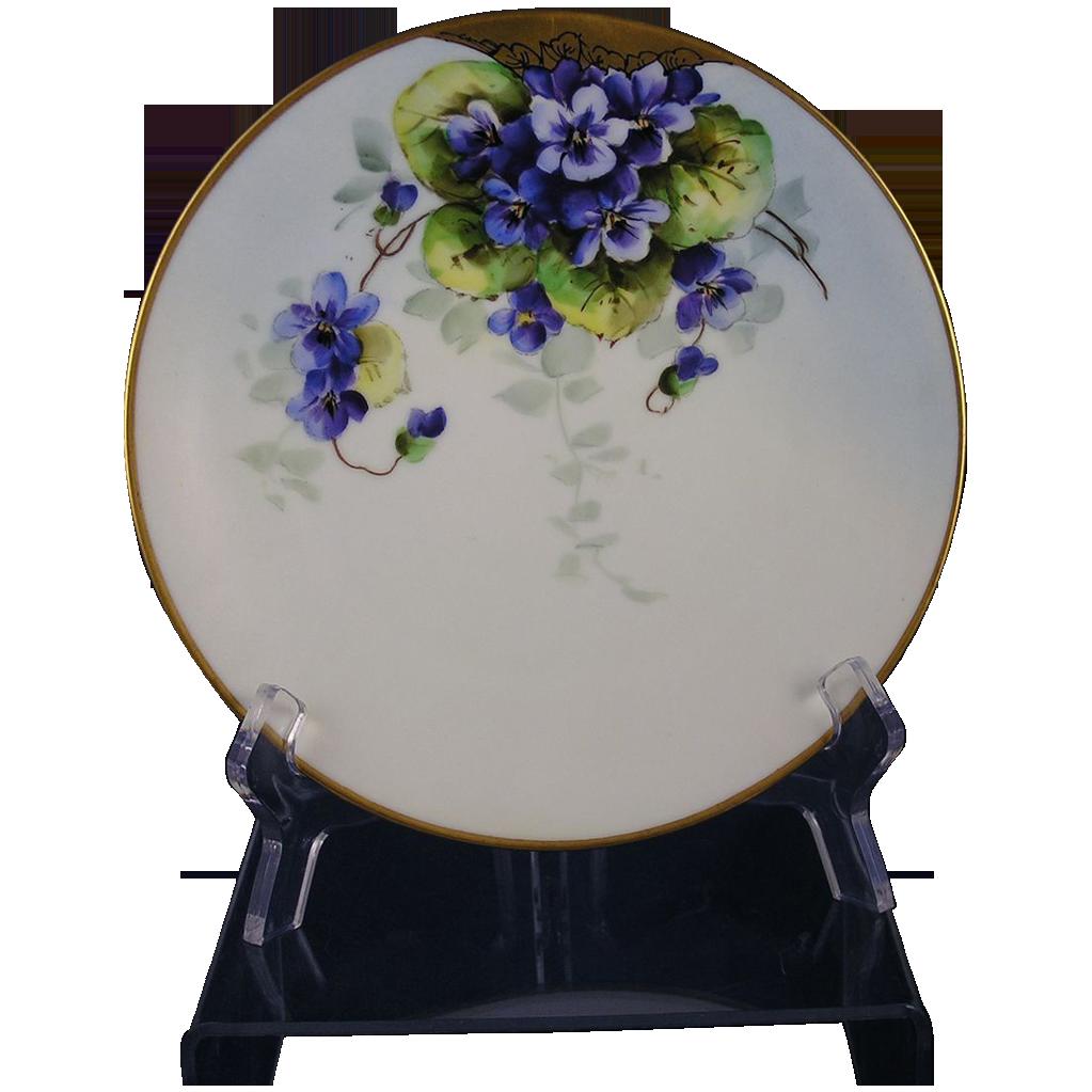 Favorite Bavaria Violet Motif Plate (c.1910-1930)