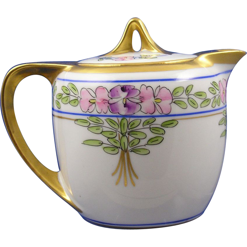 Pickard Studios Floral Motif Syrup Pitcher (c.1912-1918)