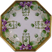 "Pickard Studios ""Violets in Panel"" Design Small Bowl (c.1910-1912)"