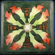 PH Leonard Austria Arts & Crafts Oak Leaves & Acorn Motif Trivet (c.1890-1908)