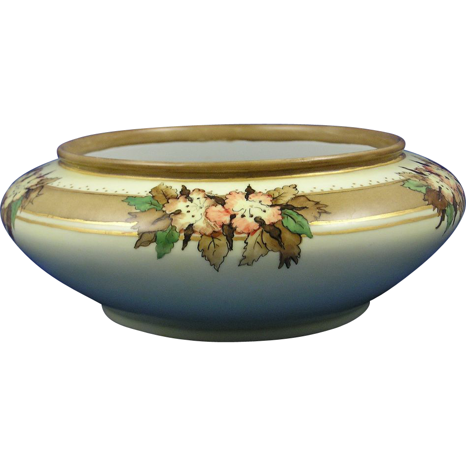 Austrian Blank Porcelain Arts & Crafts Floral Design Bowl/Planter (c.1906-1930) - Keramic Studio Design