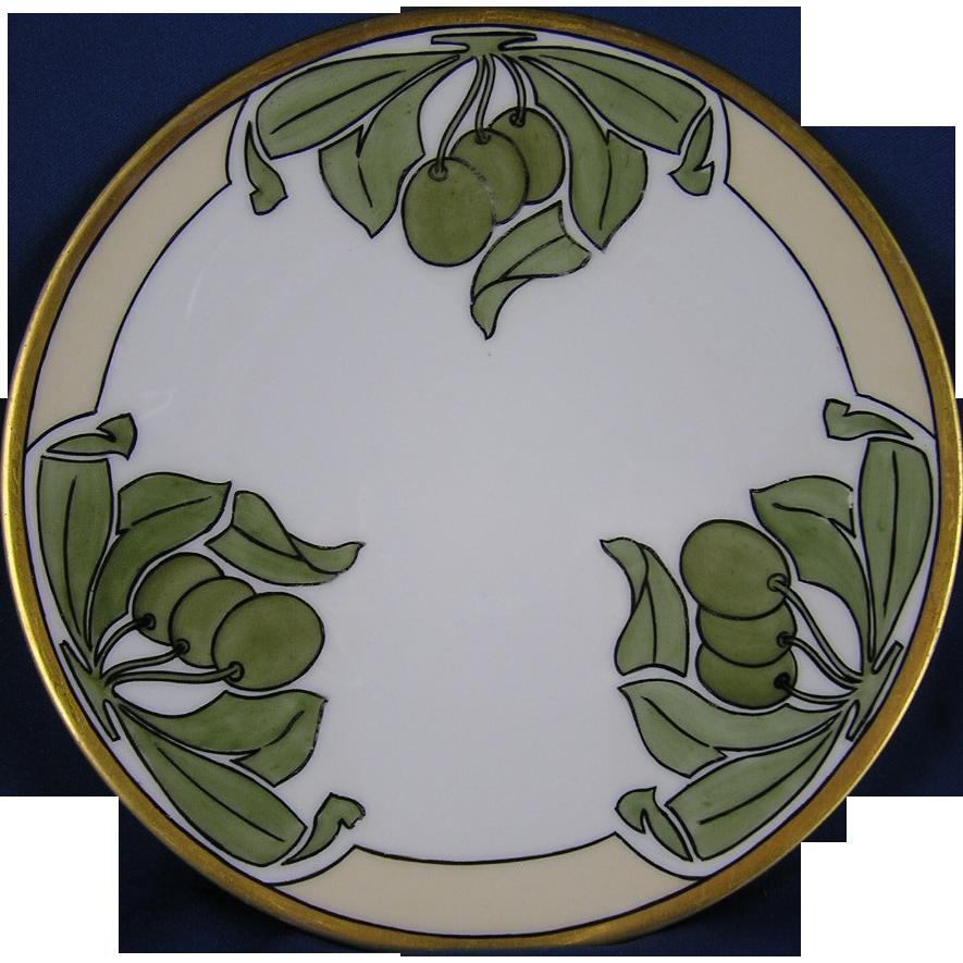 favorite bavaria arts crafts olive design plate signed from darkflowers on ruby lane. Black Bedroom Furniture Sets. Home Design Ideas