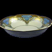 """Jaeger & Co. (JC) Bavaria Arts & Crafts Lustre Floral Design Bowl (Signed """"M. Geise""""/Dated 1923)"""