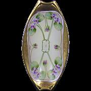 Hutschenreuther Bavaria Pickard Studios Violet Design Dish (c.1905-1910)
