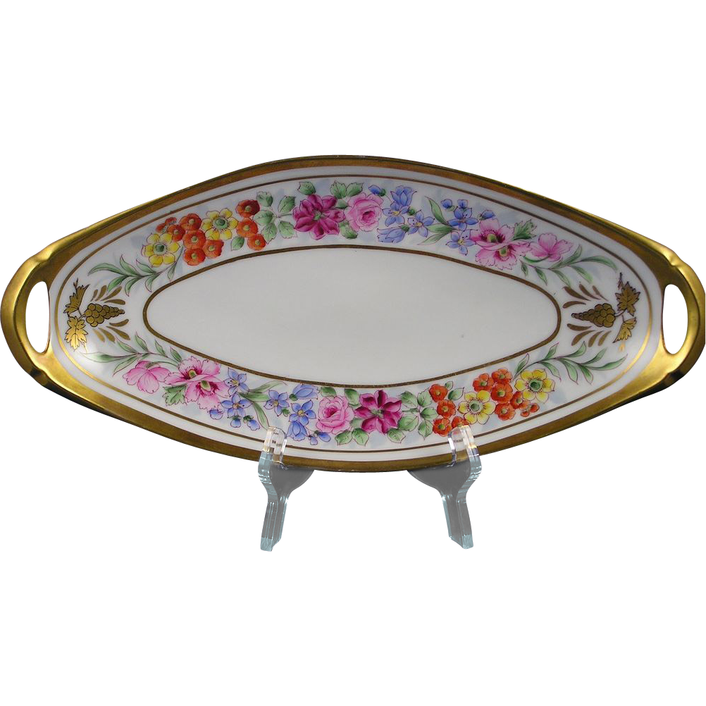 "Pickard Studios Floral ""Border Primavera"" Design Serving Dish (c.1912-1918)"