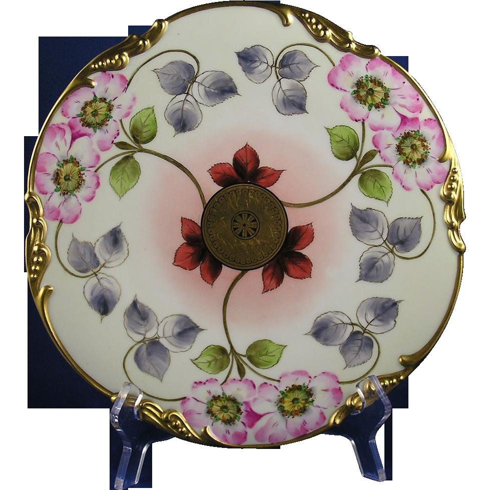 Jean Pouyat (JP) Limoges E.W. Donath Studios Floral Design Plate (c.1910-1915)