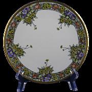 Jaeger & Co. (JC) Bavaria Arts & Crafts Floral Motif Plate (c.1902-1930)