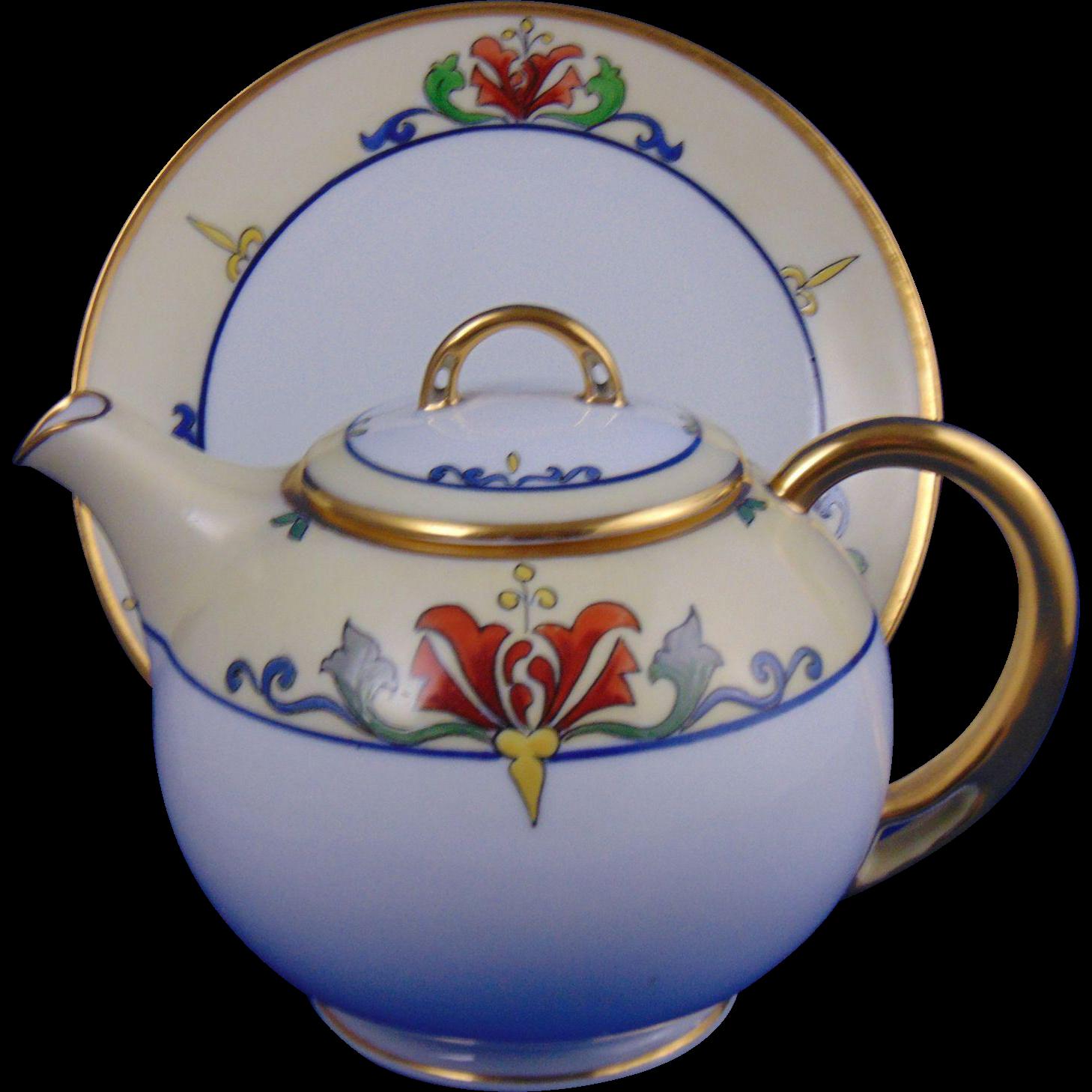 HC Royal Bavaria Julius Brauer Studio Arts & Crafts Teapot/Syrup Pitcher (c.1914-1923)
