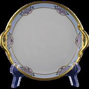 "Gerard, Duffraisseix & Abbott (GDA) Limoges Arts & Crafts Floral Design Handled Plate (Signed ""R.M. Robertson Bradford, PA""/c.1900-1941)"