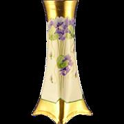 Heinrich & Co. (H&Co.) Bavaria Pickard Studios Violet Design Vase (c.1903-1905)