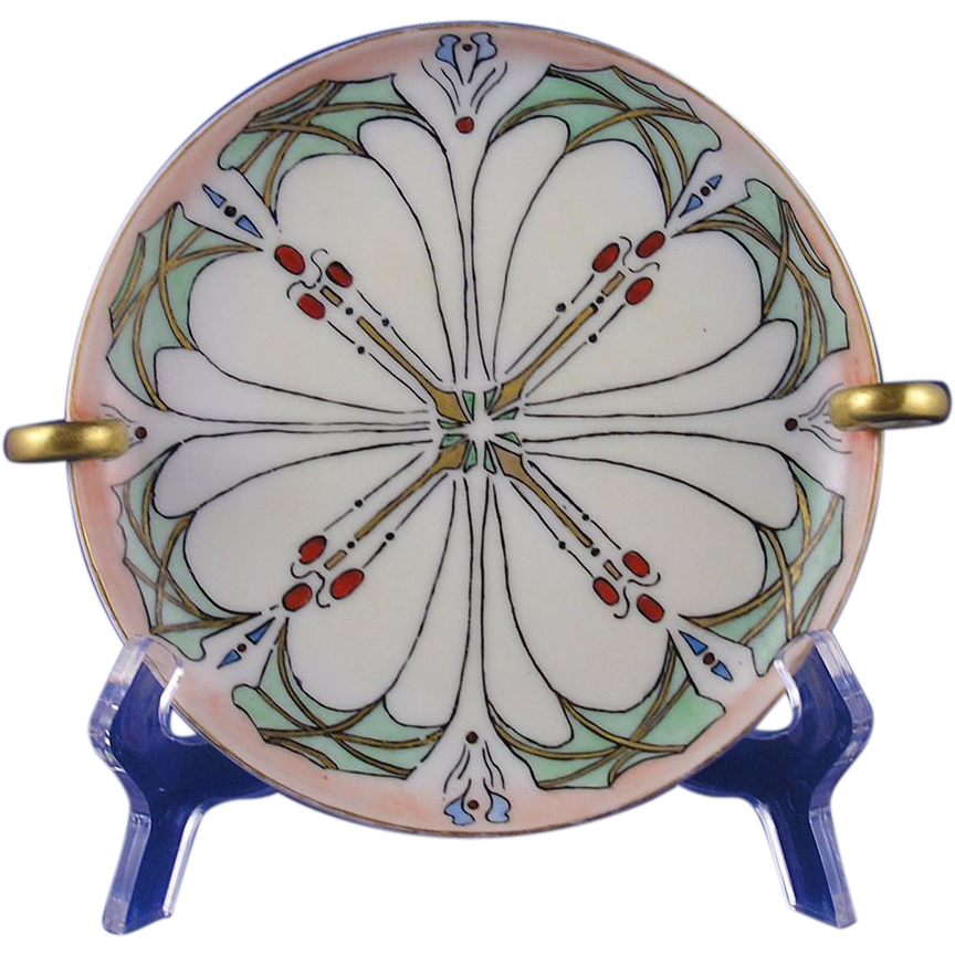 Favorite Bavaria Arts & Crafts Handled Serving Plate/Dish (c.1910-1930) - Keramic Studio Design