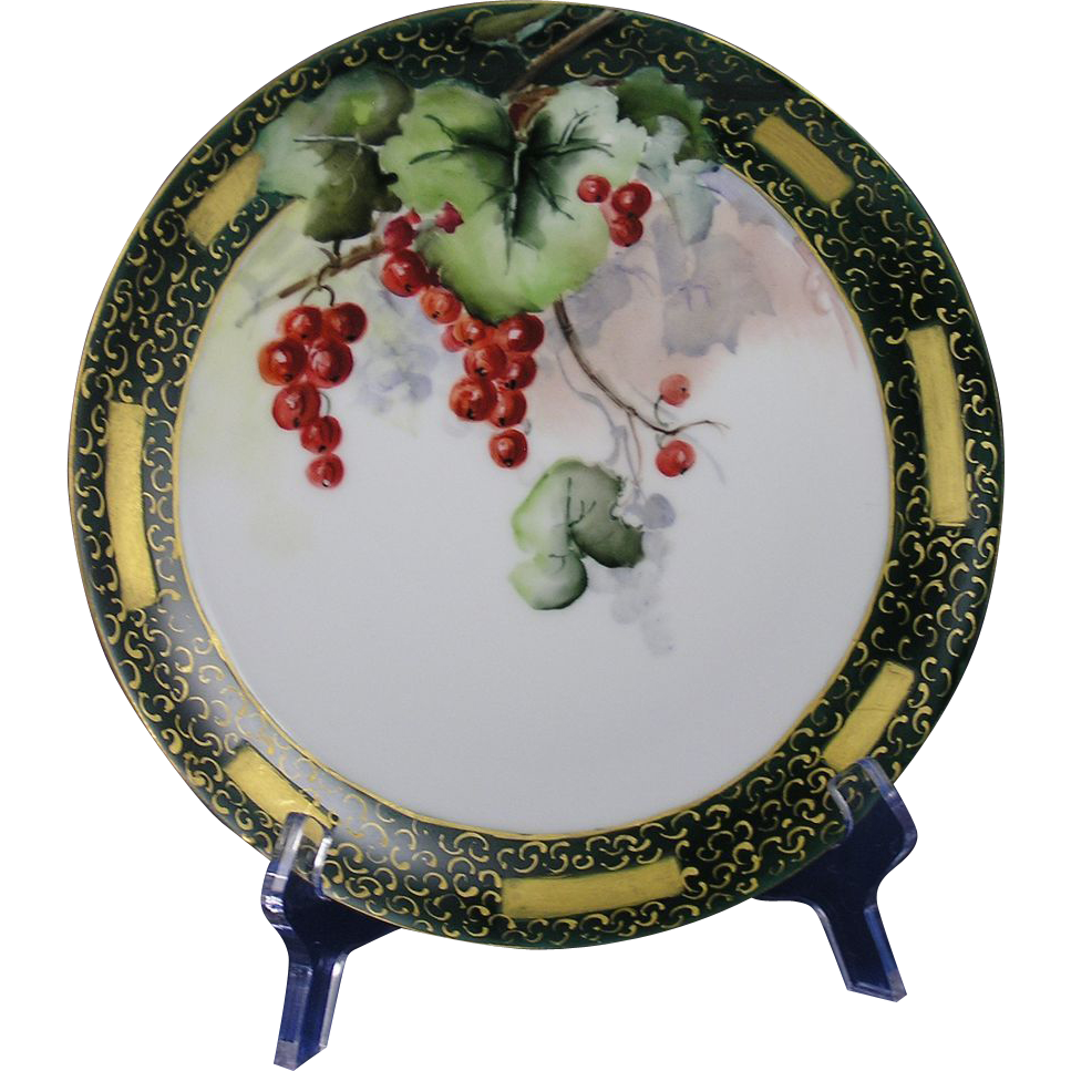 Haviland Limoges Currant Motif Plate (c.1894-1931)