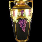 "Pickard Studios ""Lustre Grapes & Leaves"" Design Vase (c.1903-1905)"