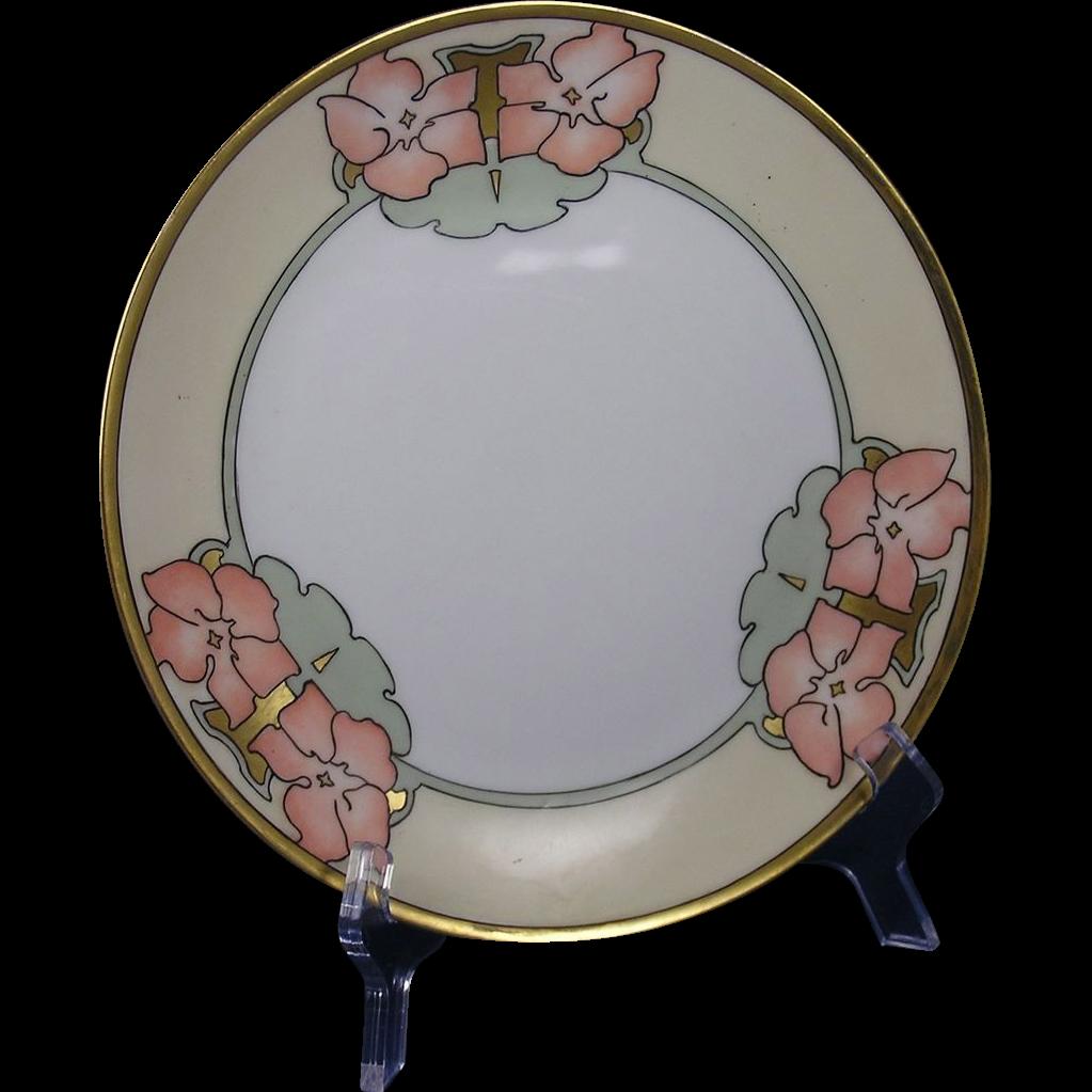 Rosenthal Selb Bavaria Arts & Crafts Floral Motif Plate (c.1907-1940)