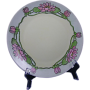 Thomas Bavaria Arts & Crafts Lotus Blossom Motif Plate (c.1908-1930)