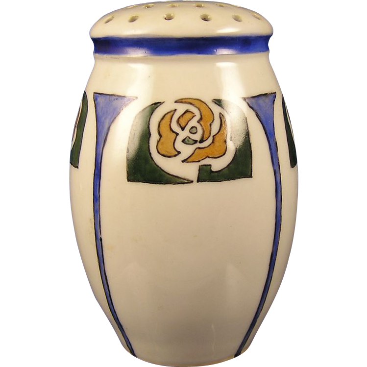 Zeh, Scherzer & Co. (ZS&Co.) Bavaria Arts & Crafts Floral Motif Sugar Shaker (c.1890-1930)