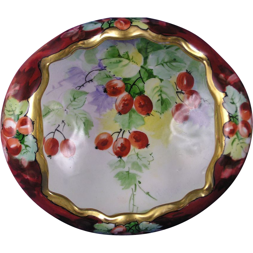 Classic Bavaria Currant Motif Centerpiece Bowl (c.1910-1940)