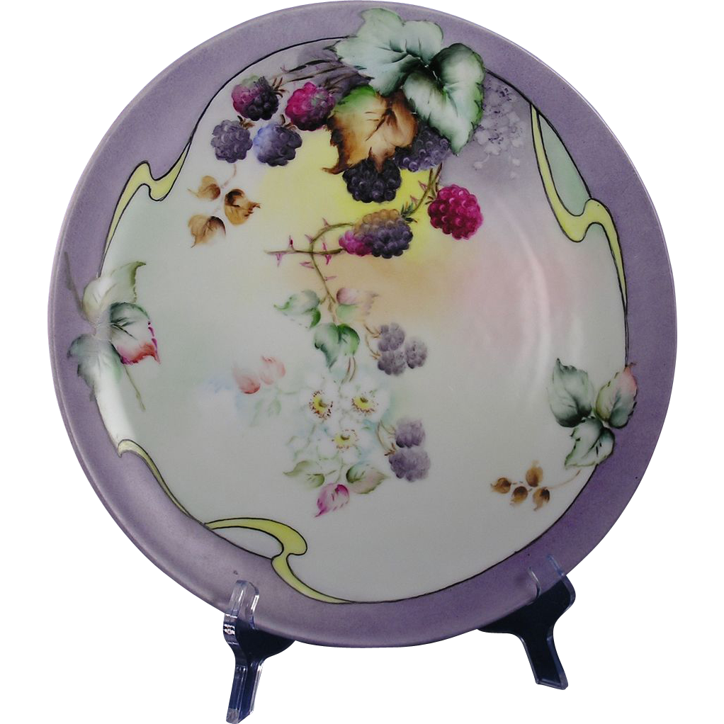 Jaeger & Co. (JC) Bavaria Raspberry Motif Charger/Plate (c.1902-1930)