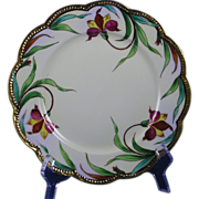 Haviland Limoges E.W. Donath Studio Iris Design Plate (c.1910-1915)