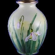 """Edward W. Donath Studio Floral Design Vase (Signed """"Kitt."""" for Joseph R. Kittler/c.1906-1928)"""