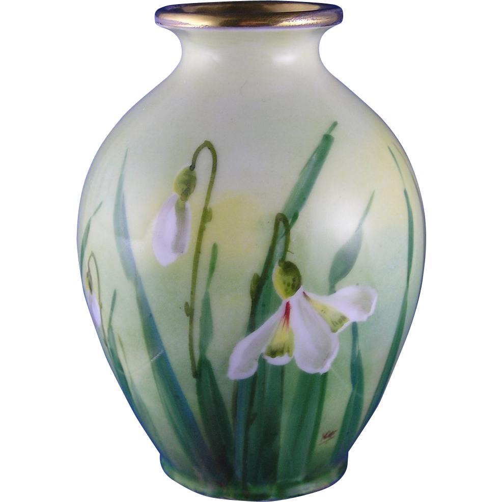 "Edward W. Donath Studio Floral Design Vase (Signed ""Kitt."" for Joseph R. Kittler/c.1906-1928)"