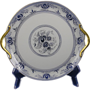 Gerard, Duffraisseix & Abbott (GDA) Limoges Arts & Crafts Floral Design Handled Plate (Signed by Atlan Club Member, Francis A. Barothy/c.1900-1941)