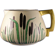 Count Thun (TK) Czechoslovakia Arts & Crafts Cattail Motif Pitcher (c.1918-1939) - Keramic Studio Design