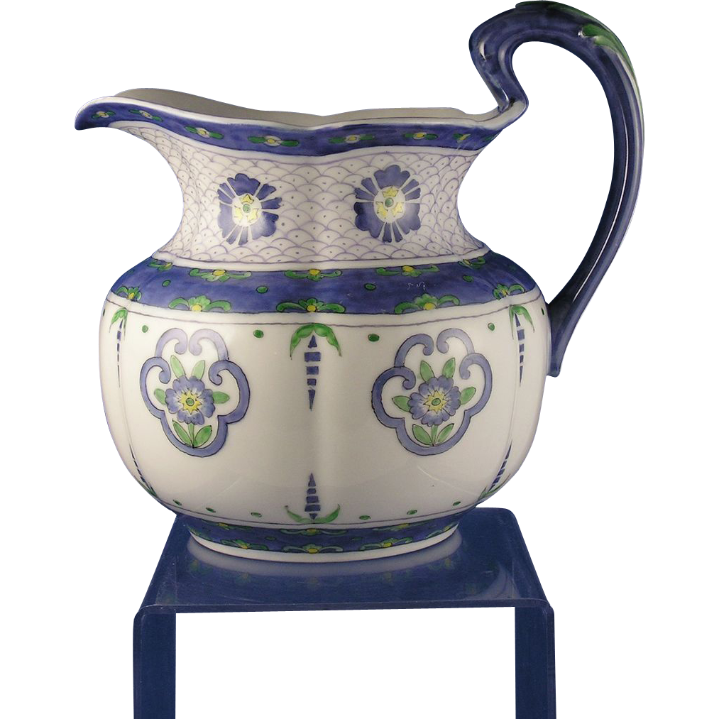 Delinieres & Co. (D&Co.) Limoges Arts & Crafts Floral Motif Pitcher (c.1901-1920) - Keramic Studio Design