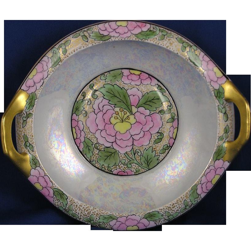 "Moritz Zdekauer (MZ) Austria Arts & Crafts Floral Motif Handled Bowl (Signed ""O. Hirschinger""/c.1884-1909)"