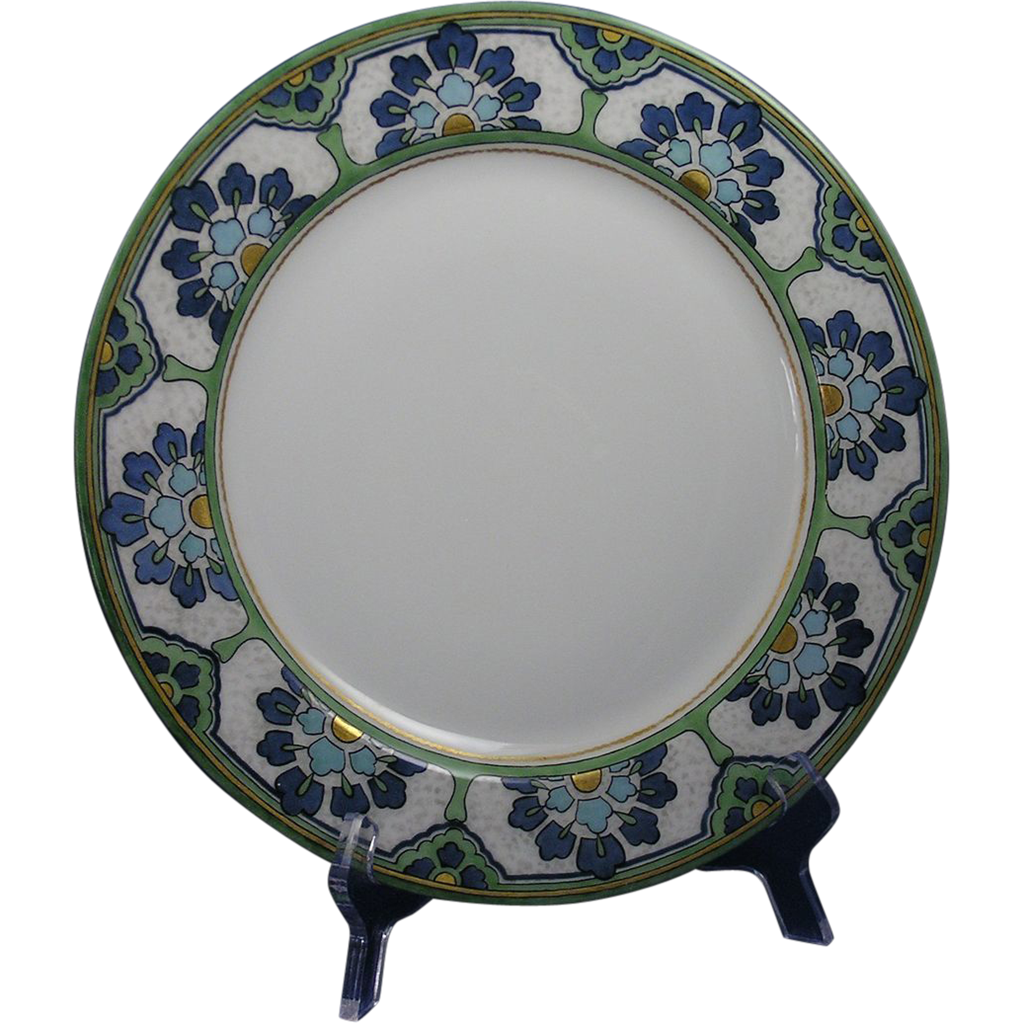 Haviland Limoges Arts & Crafts Floral Design Plate (c.1905-1920)