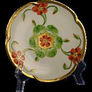 Jaeger & Co. (JC) Bavaria Donath Studios Nasturtium Design Plate (c.1910-1915)