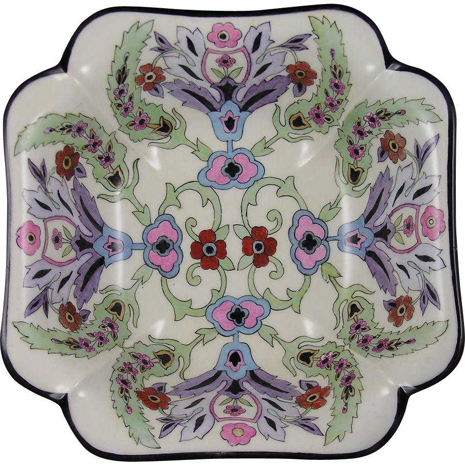 "Haviland Limoges Arts & Crafts Floral Motif Bowl (Signed ""C.I. Faulkner""/Dated 1933)"