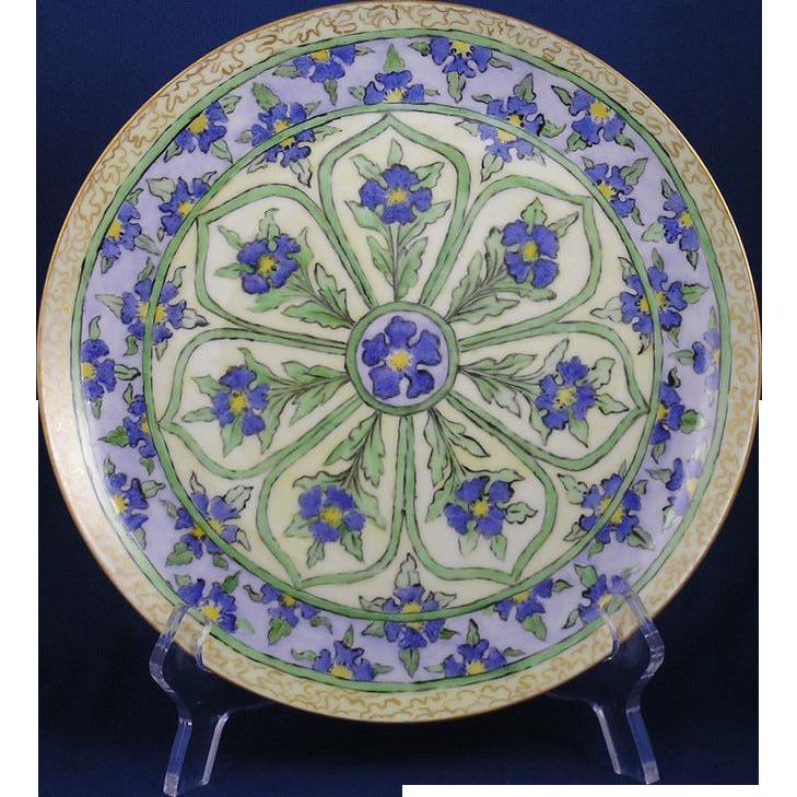 Haviland Limoges Arts & Crafts Floral Motif Plate (c.1894-1931)