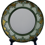 """Pfeiffer & Lowenstein (P&L) Imperial Arts & Crafts Gold & Leaves Plate (Signed """"Della Porter""""/c.1914-1918)"""