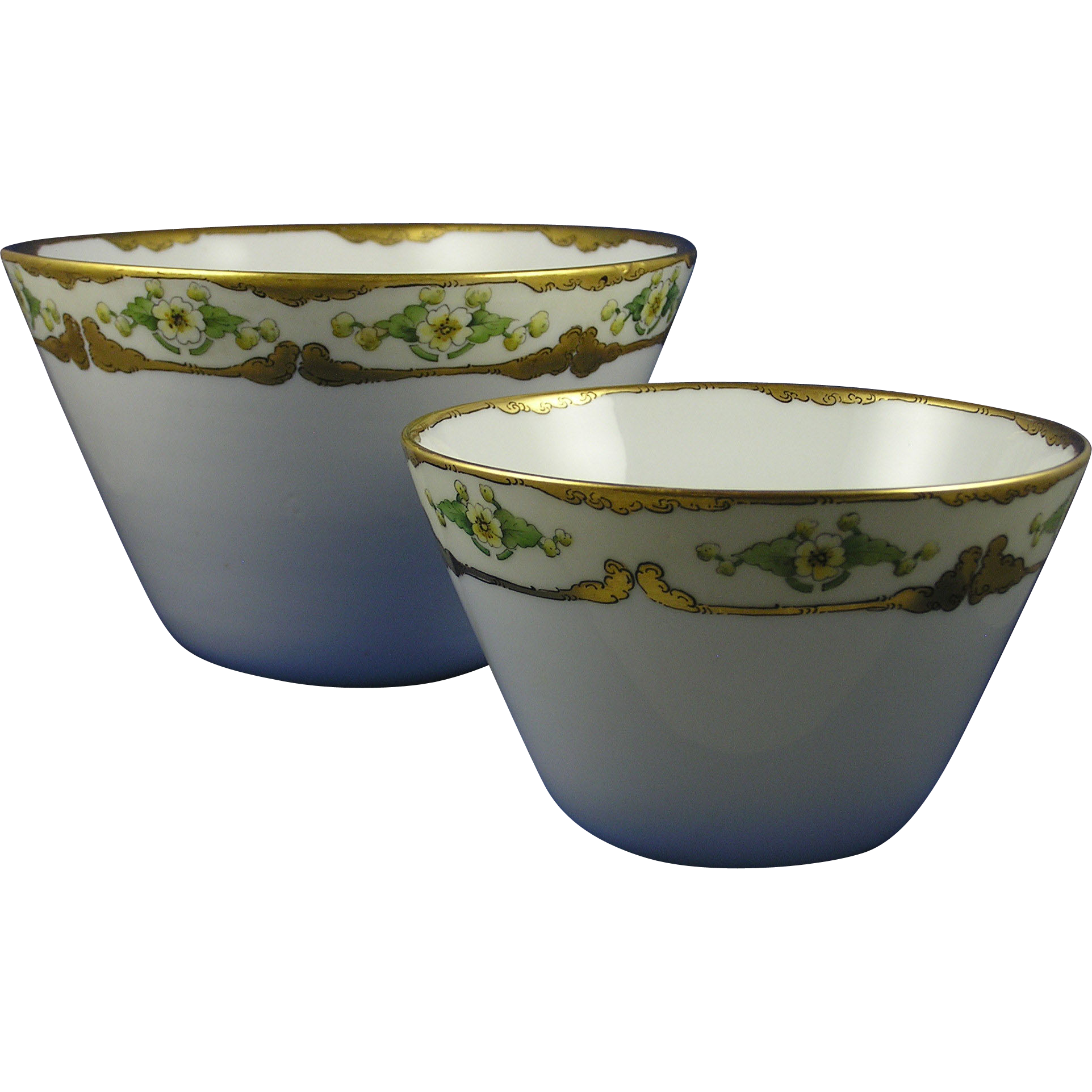 Favorite Bavaria Arts & Crafts Floral Design Bowl Set (c.1910-1930)