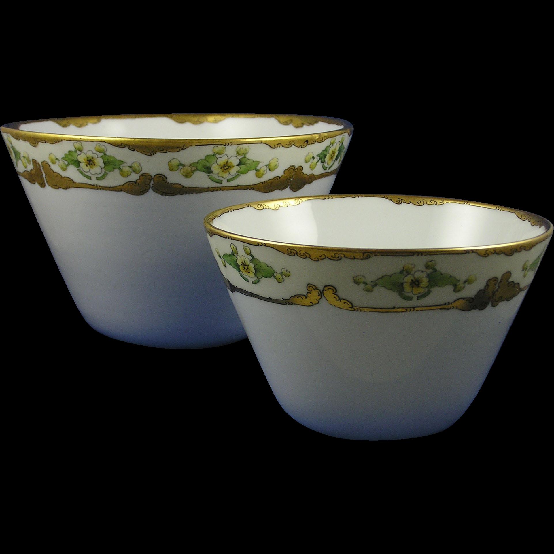 Favorite Bavaria Arts & Crafts Floral Design Bowl Set (c.1910-1930)