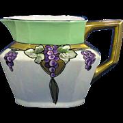 Jean Pouyat (JP) Limoges Arts & Crafts Grape Motif Pitcher (c.1890-1932)