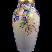 Wehinger Czechoslovakia Blackberry Motif Vase (c.1918-1936)