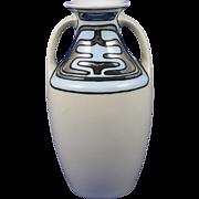 RS Germany Art Deco Platinum & Blue Design Vase (c.1904-1938)