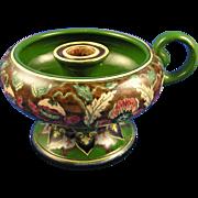 "Royal Bonn ""Old Dutch"" Poppy Design Candle Holder (c.1890-1920)"