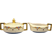 Heinrich & Co. (H&Co.) Selb Bavaria Art Deco Creamer & Sugar Set (c.1910-1935)