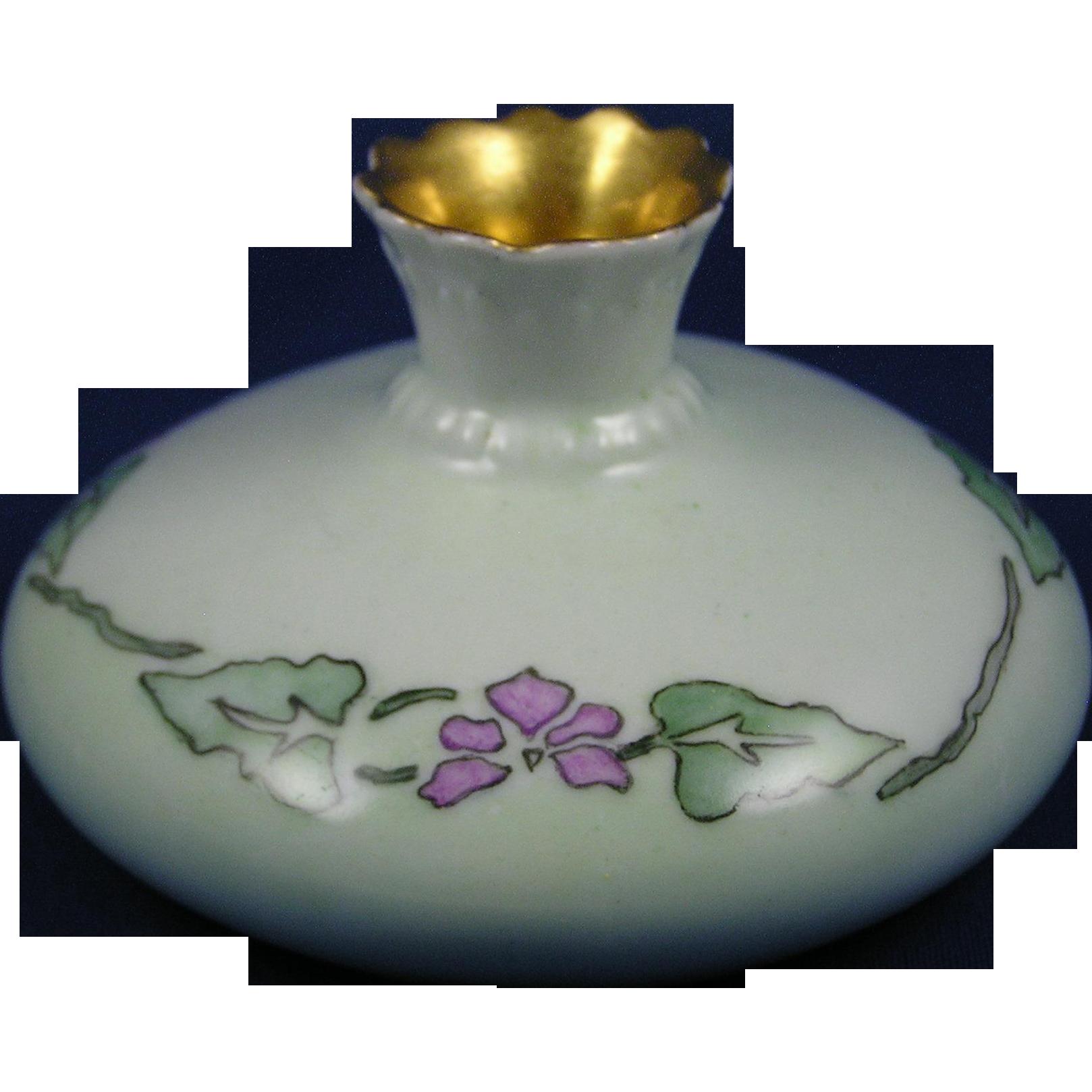 PH Leonard Austria Arts & Crafts Floral Motif Vase (c.1890-1908)