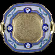 "Pickard Studios ""Encrusted Linear"" Design Handled Plate (c.1912-1918)"