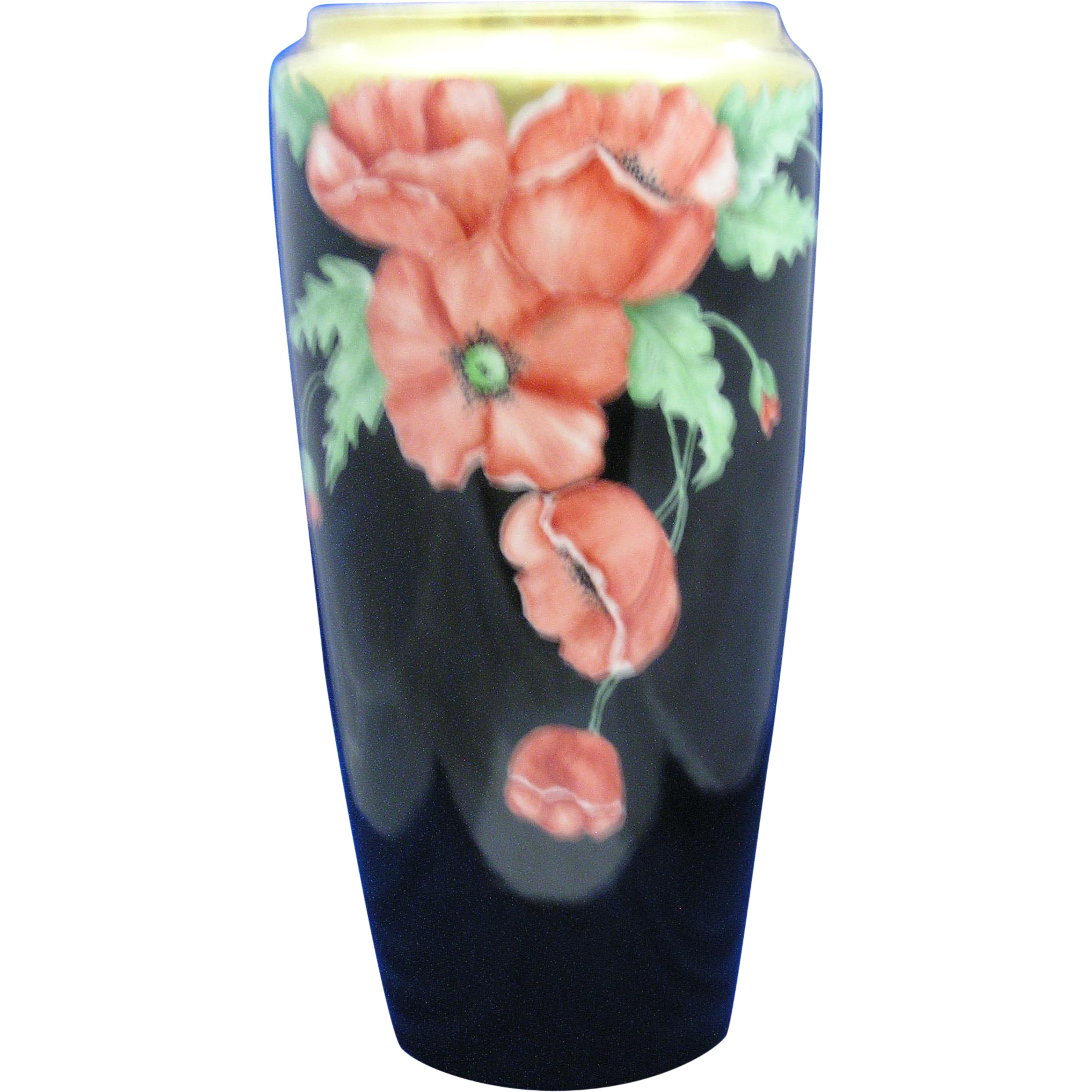 Bernardaud & Co. (B&Co.) Limoges Poppy Motif Vase (Dated 1935)