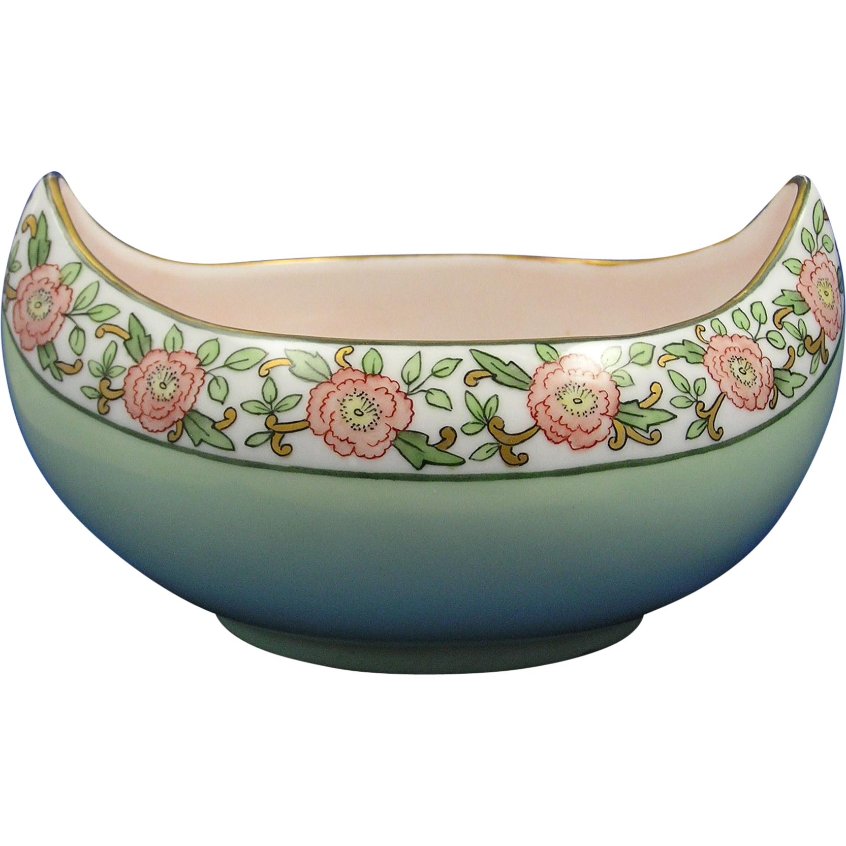 Favorite Bavaria Arts & Crafts Floral Motif Bowl (c.1910-1930)