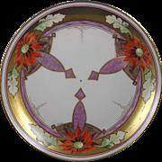 "Pickard Studios ""Poinsettia Pendant"" Design Plate (Signed ""J. Nessy""/c.1912-1918)"