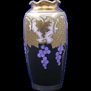 """Osborne Studios """"Metallic Grapes"""" Design Vase (Signed """"Osborne""""/c.1913-1918) - Red Tag Sale Item"""