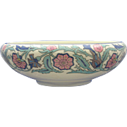 Willets Belleek Arts & Crafts Enameled Floral Motif Bowl (c.1879-1912)